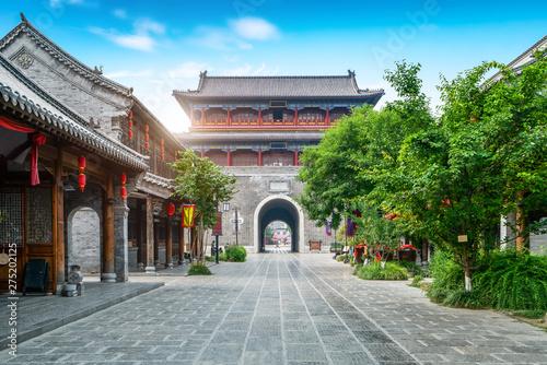 Foto auf AluDibond Dunkelgrau Qingzhou Ancient City, Shandong Province, China..