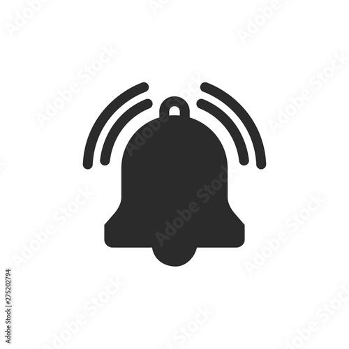 Cuadros en Lienzo Message notification bell icon template black color editable