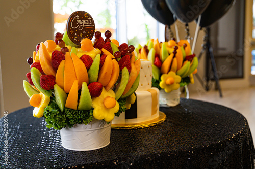 Tablou Canvas Edible Fruit basket arrangement with a variety of fruits