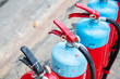 Tank of fire extinguisher for industrial refinery crude oil and gas in industrial.