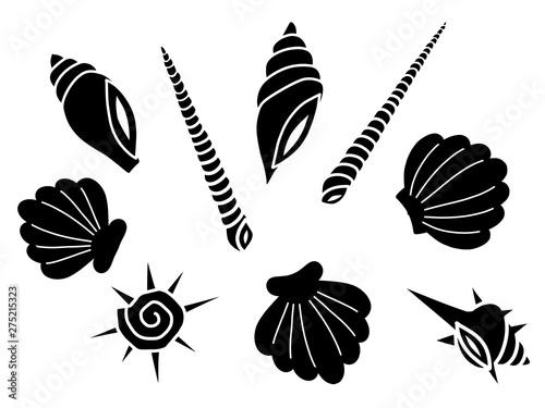 Carta da parati 貝殻の背景素材/黒