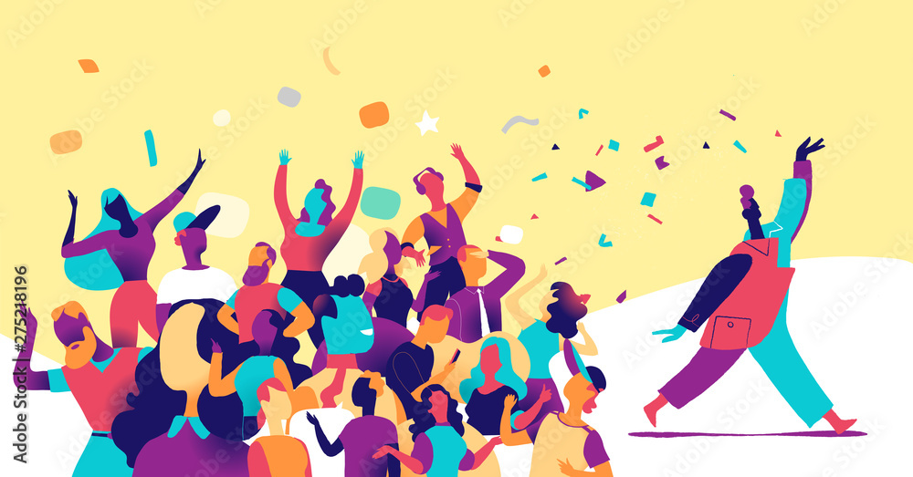 Fototapety, obrazy: People are celebrating together