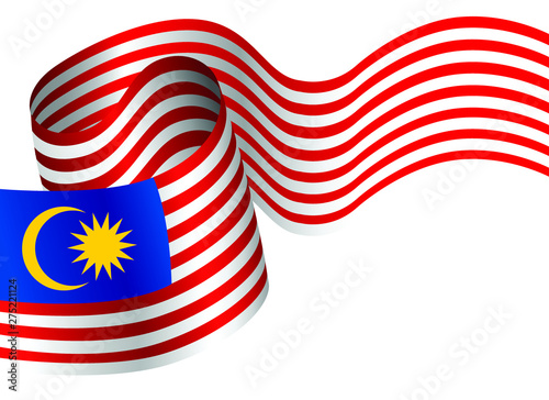 Fotomural  Vector Ilustration of Malaysia flag