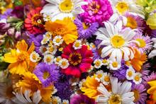 Bouquet Of Various Summer Flow...