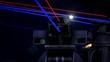 Futuristic Laser Gun Tower explodes enemies in battle