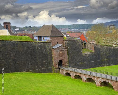 Obraz na plátně Fortifications of famous Belfort citadel