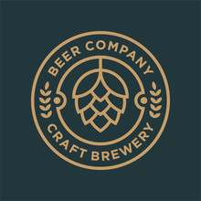 Brewery Logo Design Concept. Universal Brewery Badge Logo.