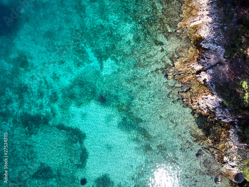 Poster Pays d Europe aerial view of croatia coast line