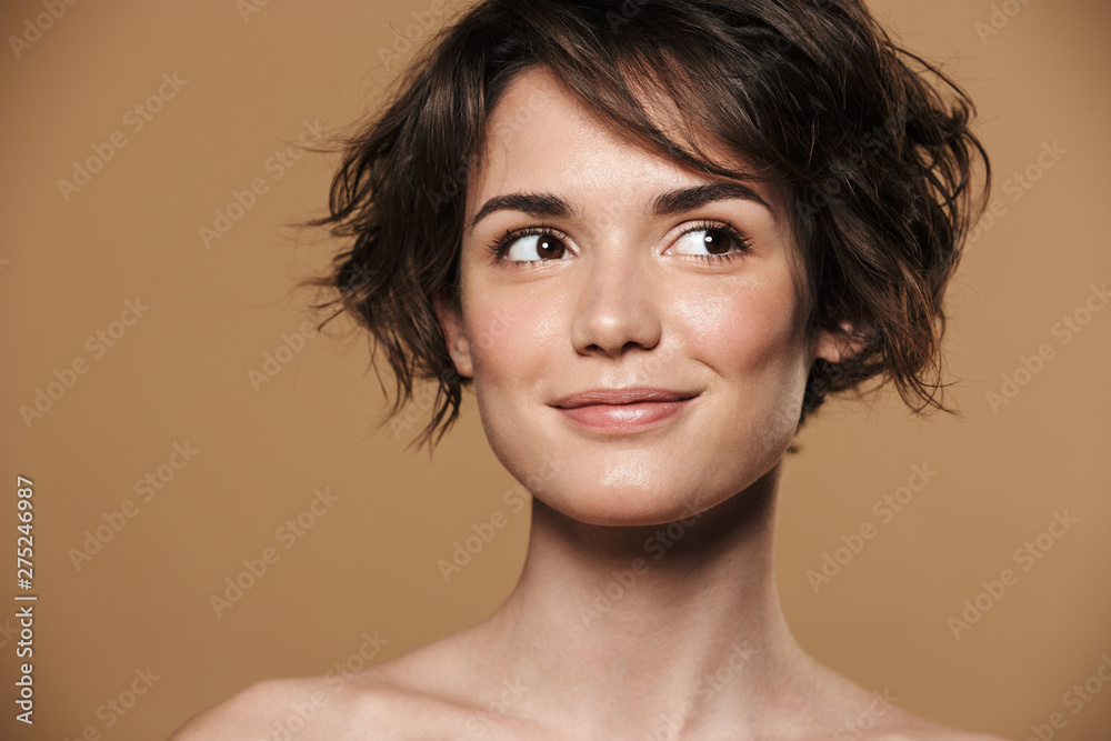 Fototapeta Beauty portrait of a lovely young topless woman