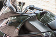 detail of Japanese asphalt motorcycle parked