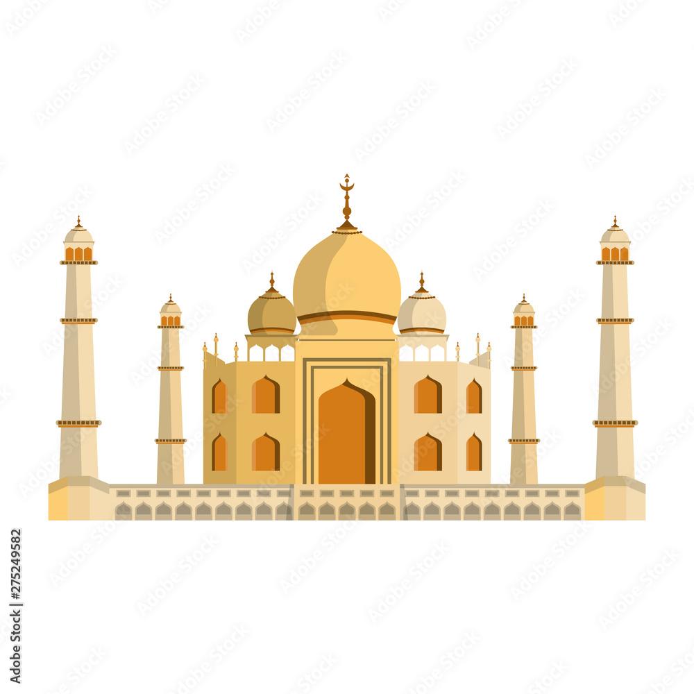 Fototapeta indian building monuments icon cartoon