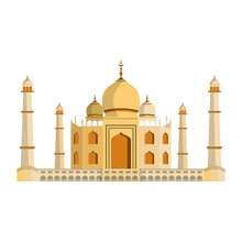 Indian Building Monuments Icon Cartoon