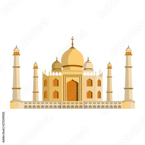 Fototapeta indian building monuments icon cartoon obraz