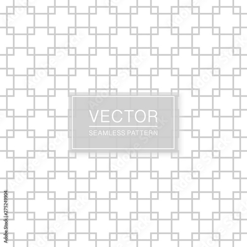 Decorative seamless ornamental pattern - delicate grid design. Geometric oriental background. Wall mural