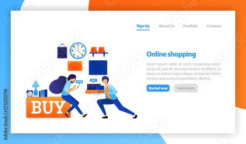 Vector Flat Illustration For Web Banner Landing Page