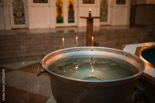 Infant baptism Tablou Canvas