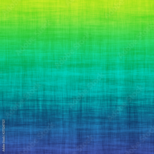 Green Teal Blue Grunge Linen Cotton Gradient Ombre Background Abstract Colorful Fototapet