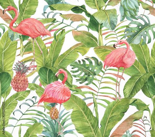 recznie-rysowane-akwarela-bezszwowe-wzor-z-rozowym-flamingiem-ananasem-i-egzotycznych-roslin-powtorz-ilustracje-tla
