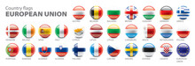 Flags Of The European Union. Vector Illustration.