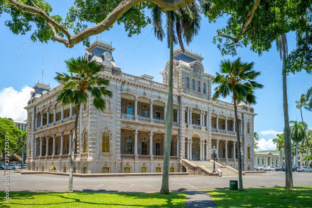 Fototapety, obrazy: Iolani Palace in Honolulu, Hawaii, US