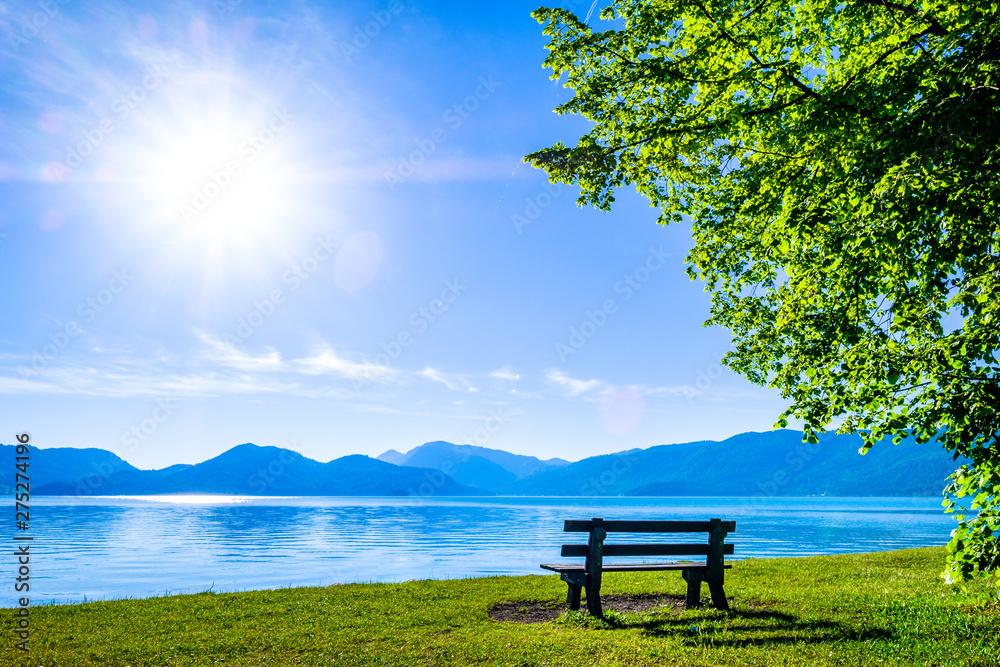 Fototapety, obrazy: walchensee lake in bavaria