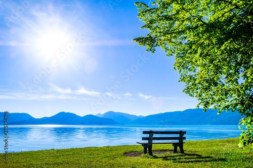 Foto auf Leinwand Landschaft walchensee lake in bavaria