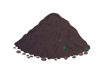 Heap Of Earth, Heap Of Soil. Vector Illustration On White Background