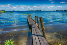 Old Rickety Wooden Jetty Leadi...