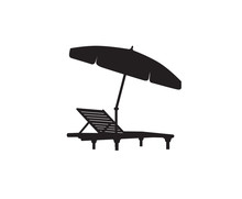 Deck Chair Umbrella Summer Bea...