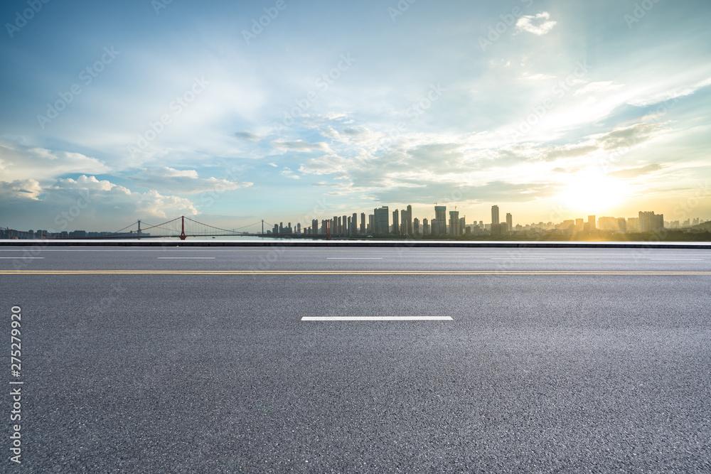 Fototapety, obrazy: road and sky