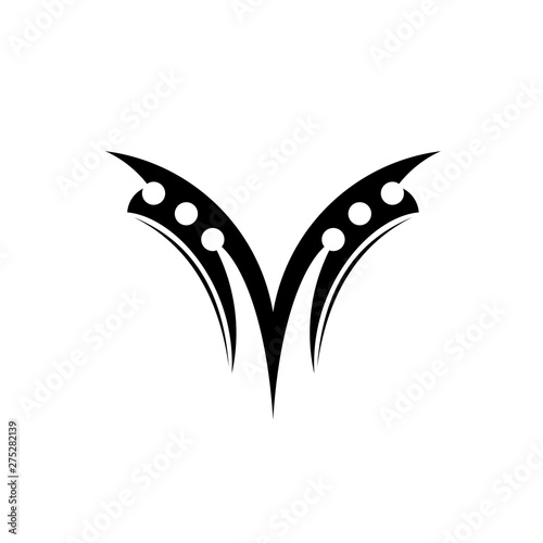 Letter M Tattoo Design Vector Sketch Of A Tribal Tattoos