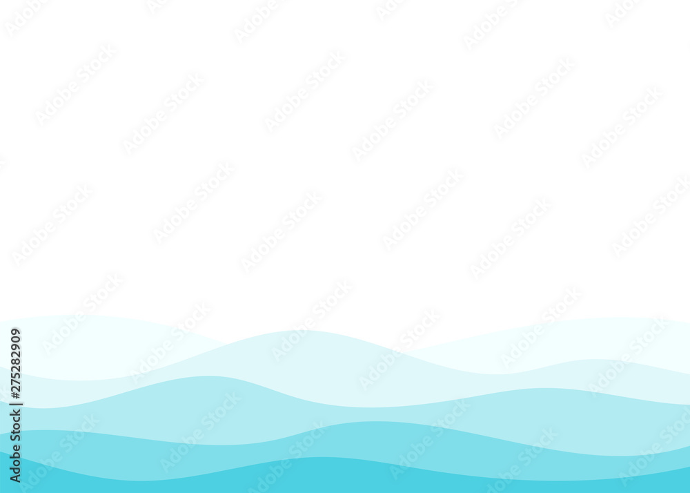 Fototapety, obrazy: Blue water wave vector abstract background