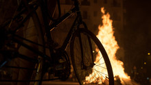 Bicicle Wheel. People Watching...