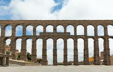 Beautiful, Roman Aqueduct In Segovia