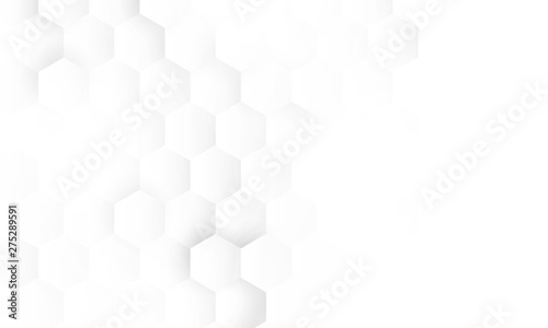 Photo hexagon concept design abstract technology background vector EPS10