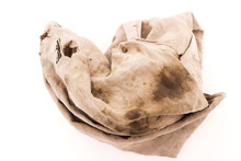 Dirty Rag Isolated On White Ba...