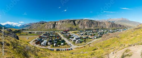 Town of El Chalten panorama at Los Glaciares National Park