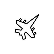 Jet Line Icon. Warplane, Fight...