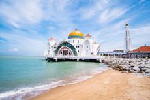 2019 May 8th, Malaysia, Melaka - View Of The The Old Masjid Selat Melaka.