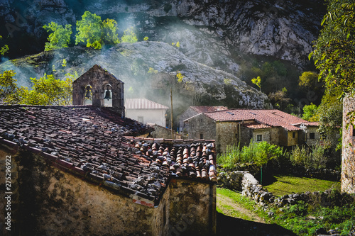 The village Bulnes in the Picos de Europa, is one of the remotest parishes in Spain