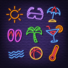 Summer Neon Icons