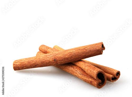 Fotografiet Cinnamon Sticks Isolated On White Background