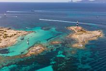 Formentera Sea, Spain, Aerial ...