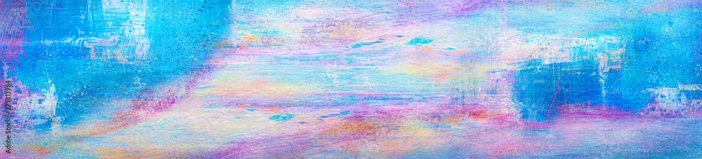 Fototapeta Abstract paintings. Hand drawn oil painting. Color texture.