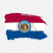 Flag Of Missouri  From Brush S...