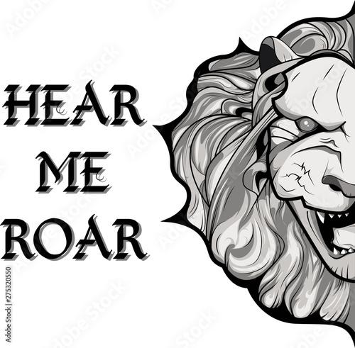 Lion. Hear me roar Wallpaper Mural