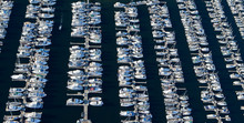 Aerial View Of Yachts In A Mar...