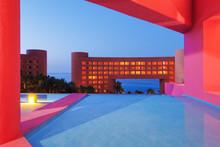 Colorful Modern Buildings,San Jos Del Cabo, Mexico