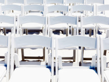 Arrangement Of Folding Chairs Outdoors