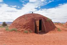 Round Shelter In Desert